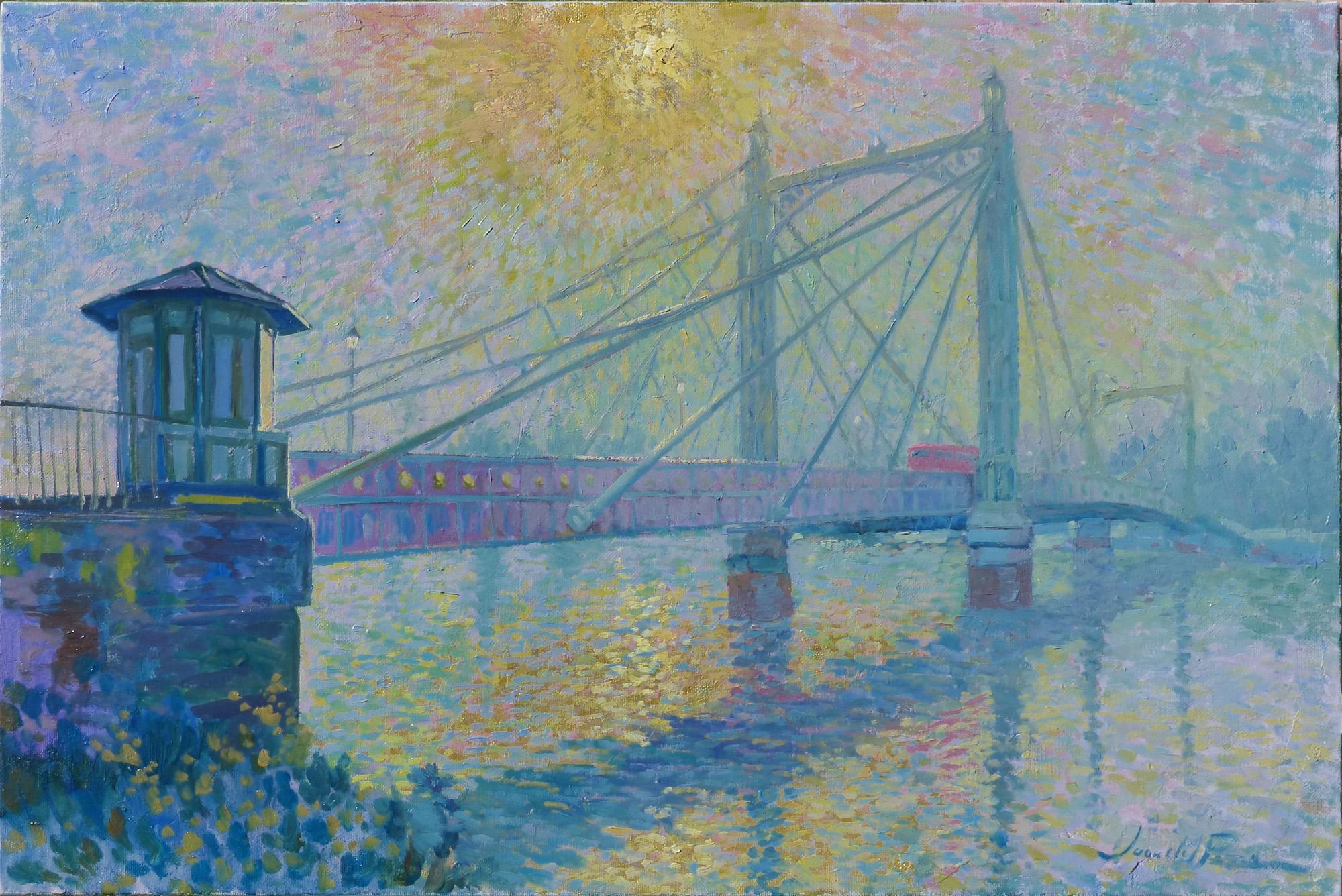 Bridge & sun 60x40cm