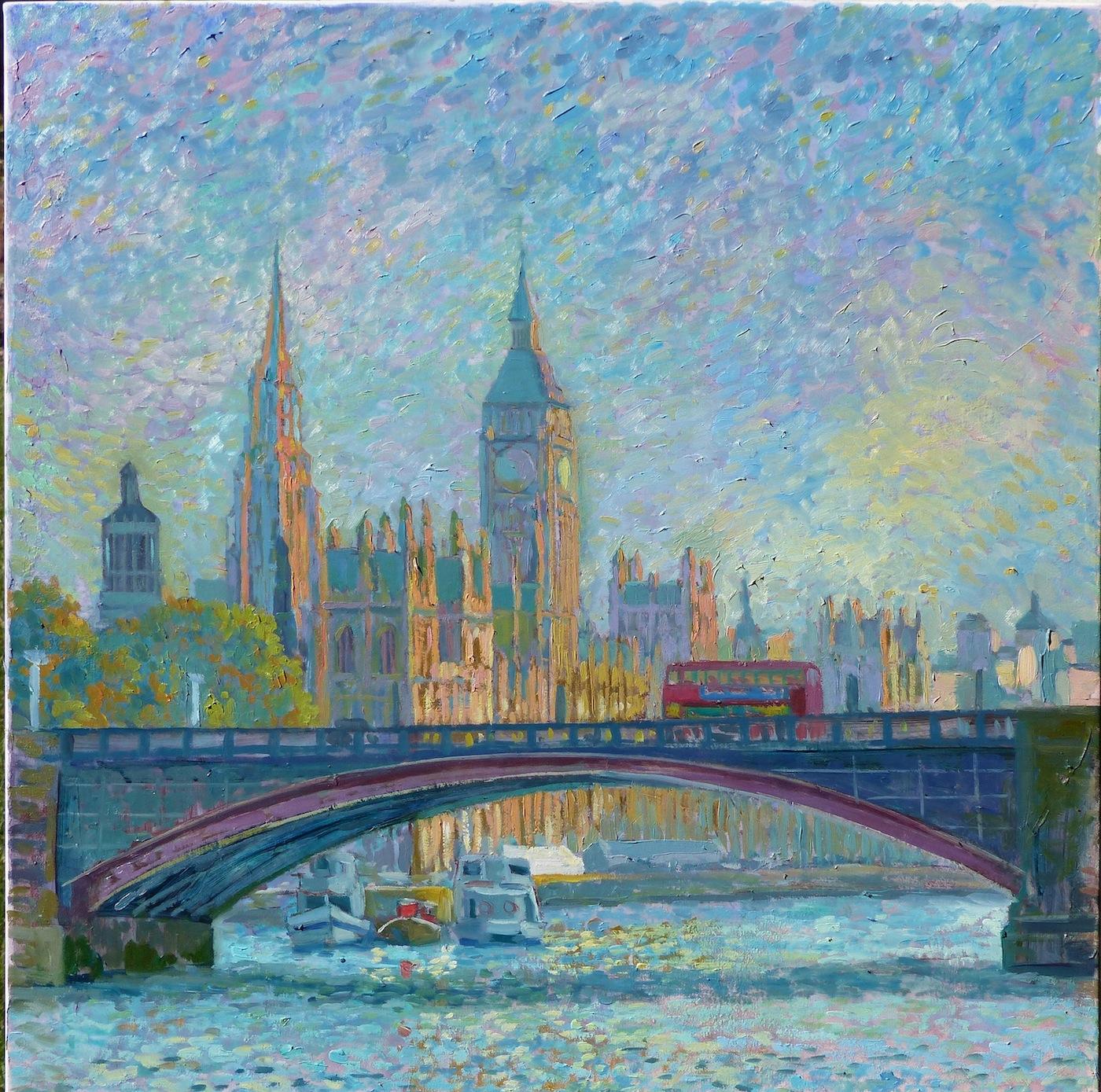 Impressionist London river